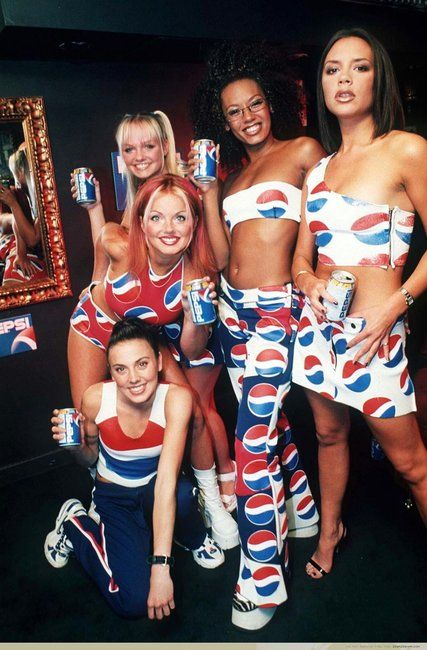Spice Girls- Pepsi look! We love them!