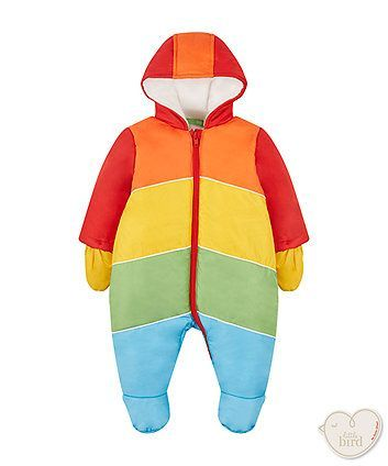 Little Bird by Jools rainbow snowsuit