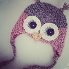 gorro de buho a crochet- video tutorial - www.ahuyamacrochet.com