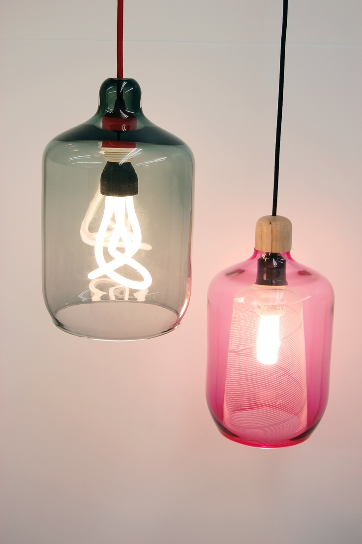 Studio Gorm put a PLUMEN bulb to good use in their Milk Bottle shade     See their other work here: http://www.studiogorm.com