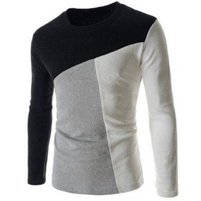 Material: Polyester, Cotton  Sleeve Length: Full  Collar: Round Neck  Style: Fashion  Weight: 0.250KG  Package Contents: 1 x T-Shirt  Pattern Type: Patchwork  SizeBustLengthShoulder WidthSleeve Length M96664262 L100684363 XL104704464 2XL108724565