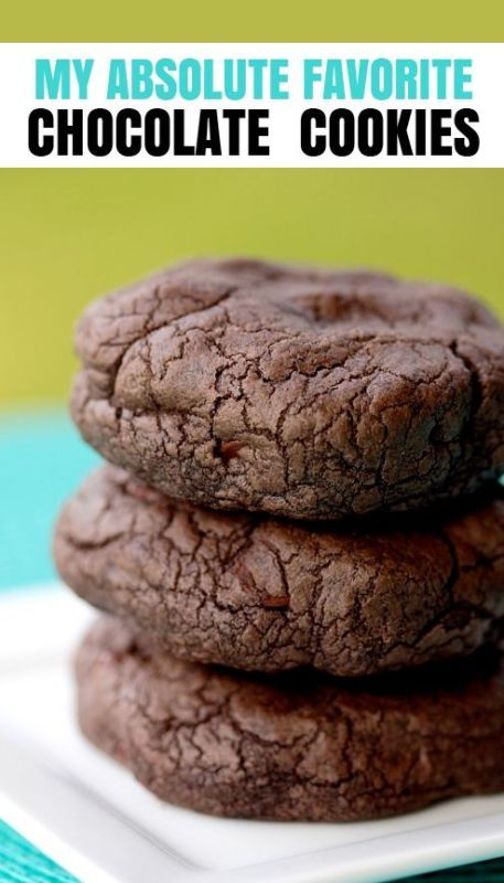 This is the best chocolate cookie recipe!  Easy and the result is as great as any bakery makes, tried and true. This recipe is a keeper!  Love these chocolate cookies!