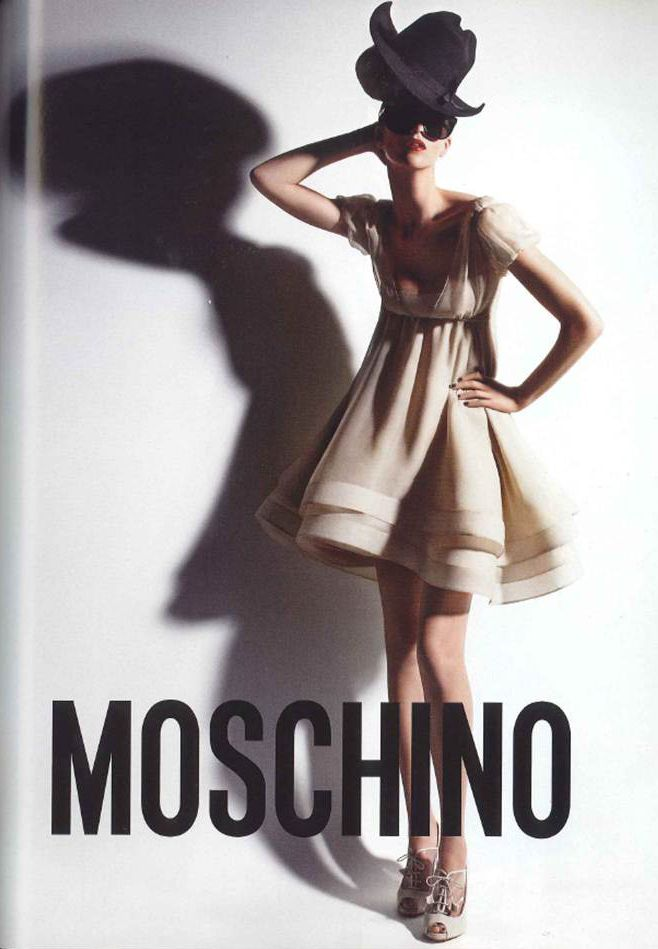 Alana Zimmer for Moschino by Rossella Jardini, photographed by Patrick Demarchelier, Spring/Summer 2008