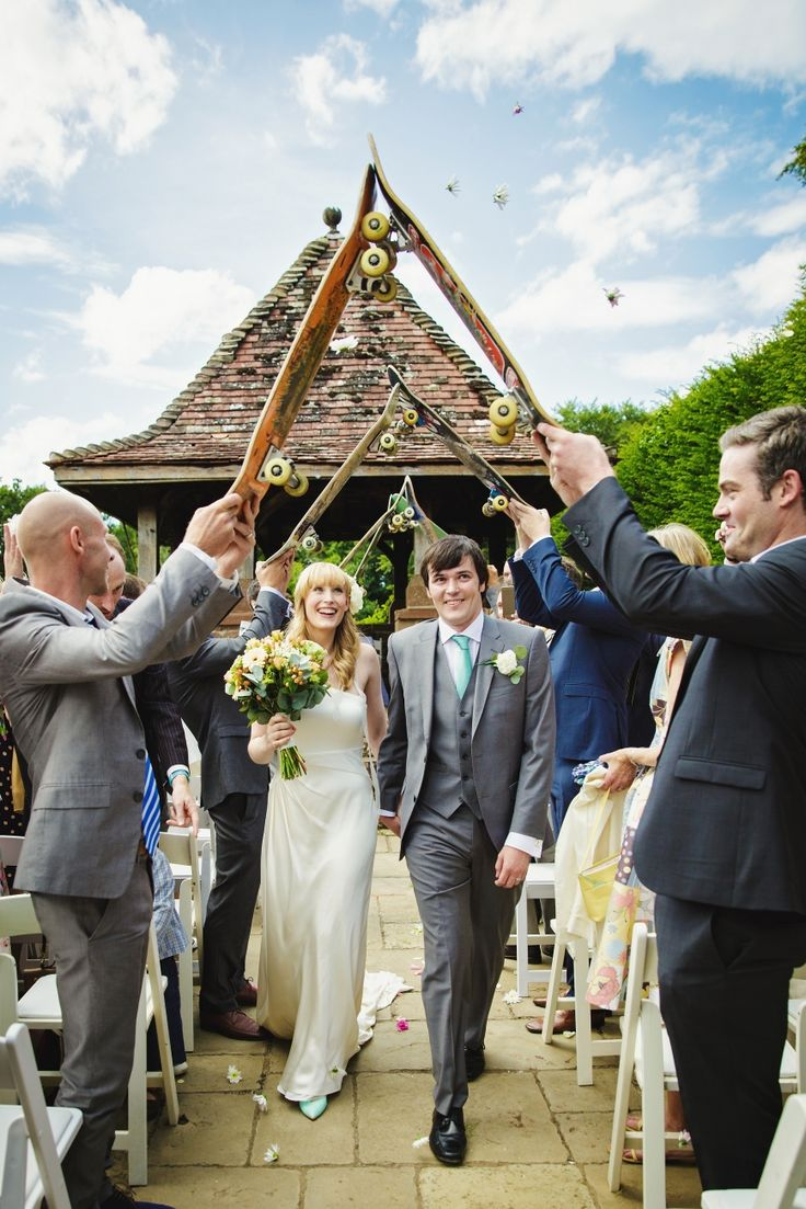 How Caple Court Wedding with a skateboarding