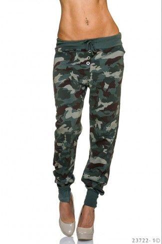 Army look παντελόνι βράκα - Καμουφλάζ