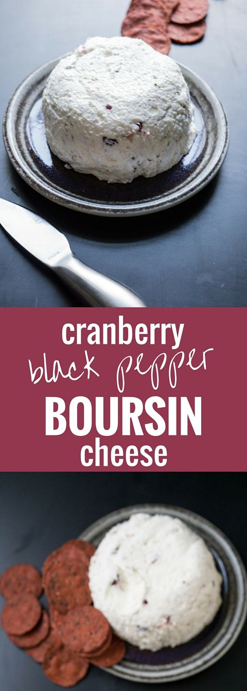Wow your guests with this SUPER easy Boursin cheese knockoff! It's cranberry black pepper bliss :)