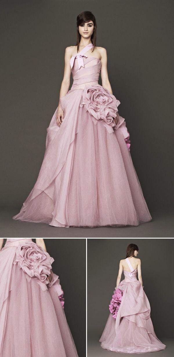 202 best wedding dress images on pinterest wedding for Pink vera wang wedding dresses
