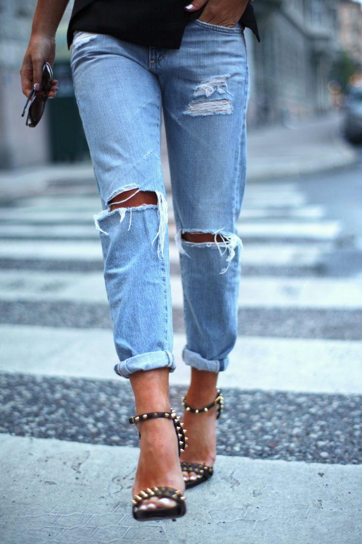 25  best ideas about Boyfriend jeans heels on Pinterest ...