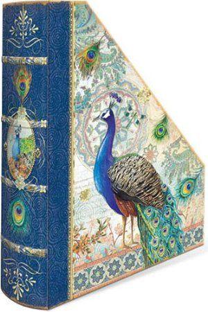 Amazon.com - Punch Studio Royal Peacock Magazine Holder (one)