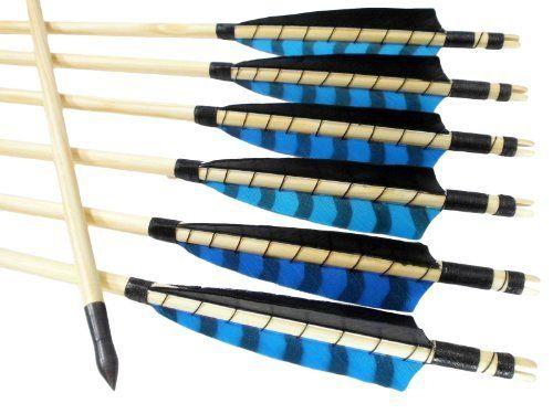 "12 Stück Holzpfeile Pfeile 5"" Shield Barred Blaue Leitfeder von Arrowforge, http://www.amazon.de/dp/B00CW3XSXE/ref=cm_sw_r_pi_dp_zBFmtb1FJVCQY"