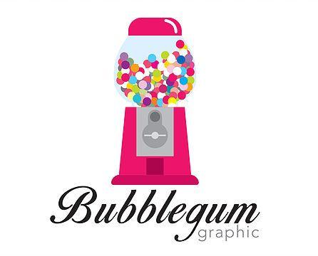 Logo Bubblegum graphic: graphiste sur Liège