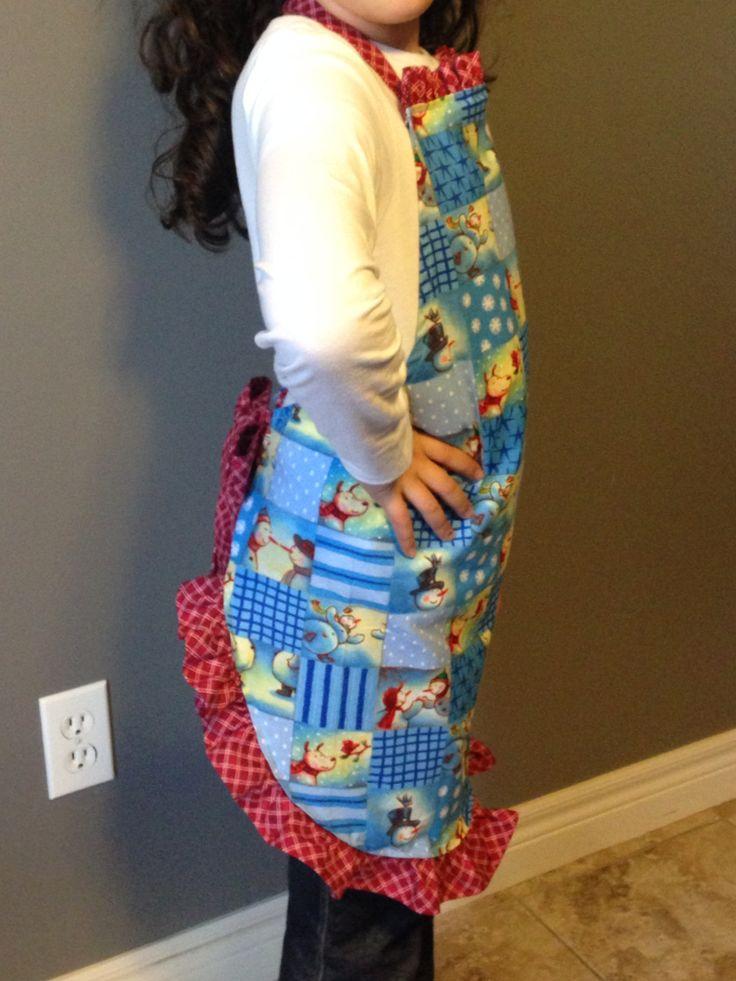 Children's Christmas apron