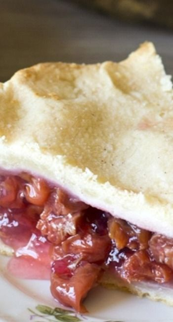 Sour Cherry Pie ~ Says: This is my Grandma\u2019s Sour Cherry Pie recipe. Simply the best cherry pie there is, and so easy to make with just 4 ingredients inside.