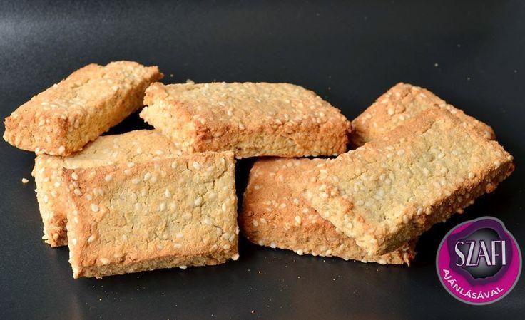 Szezámmagos mandulás sós keksz
