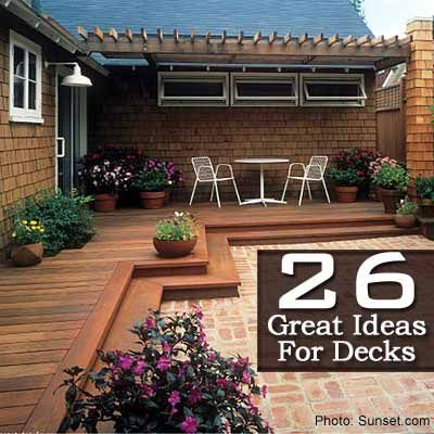 26 Great Ideas For Decks.  I want this by the front door
