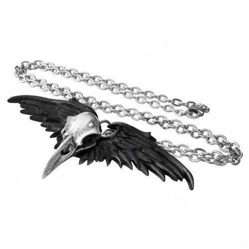 Ravenger skull necklace by Alchemy England, make a statement with tthis gorgeous gothy necklace.