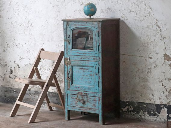 View our  Vintage Narrow Cupboard from the  Scaramanga's vintage furniture collection. #vintagefurniture #shabbychic #storage