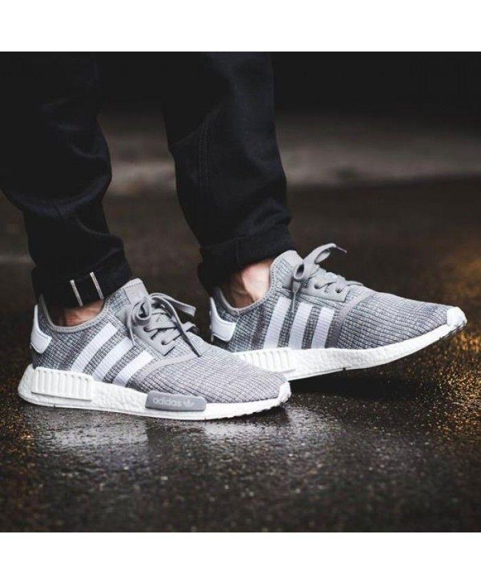 f3ef04cb0 Adidas NMD R1 Primeknit Mens Wolf Grey Shoe