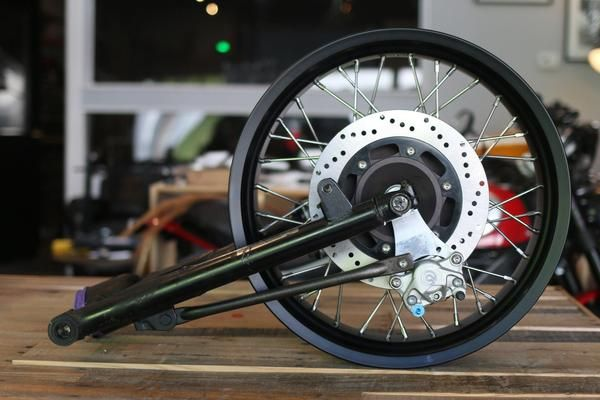 Cx500 Rear Wheel With Disc Brake Conversion Wheel Custom Cafe Racer Brake Calipers
