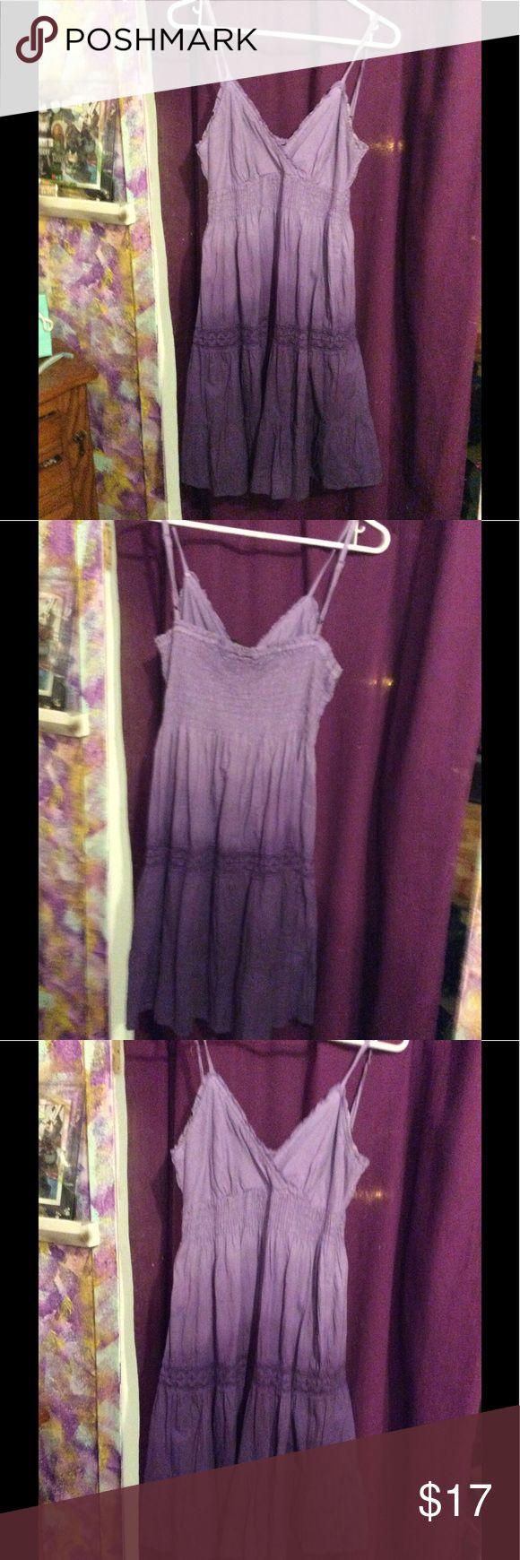 Light to dark purple sundress Never worn light weight and light to dark purple sundress Dresses Midi