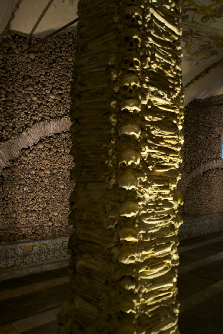 Bones column in Evora, Portugal
