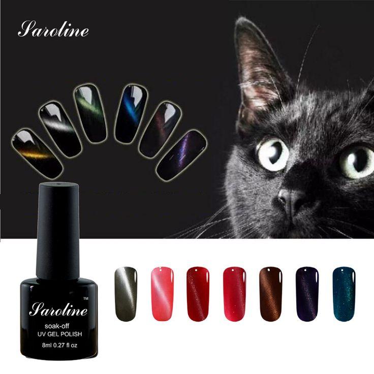 Saroline 3D Cat Eye Magnetic lucky Gel Nail Polish  Charming UV/LED Light Soak Off UV Gel Polish Gel vernis semi permanent