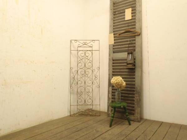 Iron Gate b334【H130×W50】 アンティークのアイアンフェンス 検ゲート インテリア 雑貨 家具 Antique ¥15800yen 〆07月08日