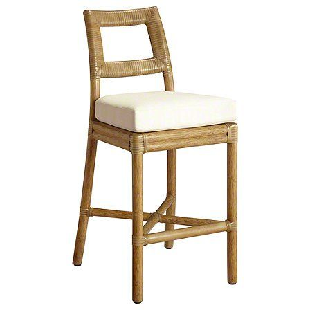 With the most intimate kitchen spaces in mind, Thomas Pheasant designed the Laced Back Side Chair and Counter Stool to suit the needs of urban dwelling. Constructed of McGuire's signature rattan, the diminutive seat and back are supported by slightly flared legs and an x-stretcher.