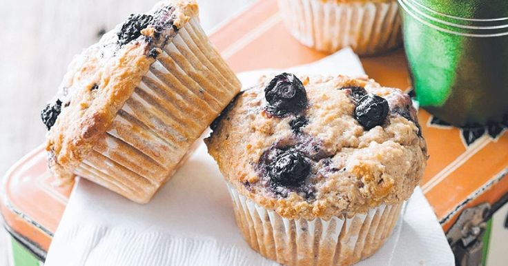 Rev up lunchboxes for the start of the new school year with these healthy banana berry muffins.