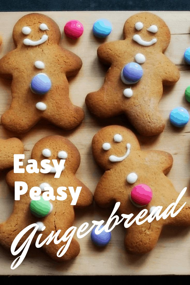 Simple Gingerbread Man Cookies Recipe for Kids Recipe in