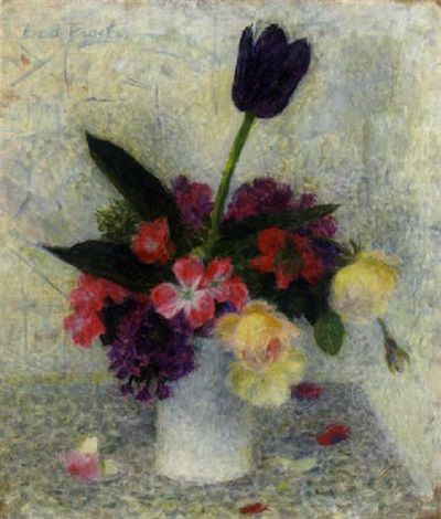 Black tulip, 1940, by Dod Procter, oil on canvas