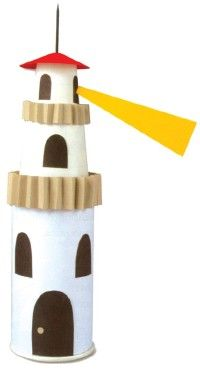 Make a paper lighthouse - The Little Red Lighthouse - Five in a Row Vol. 2