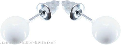 Ohrringe-Ohrstecker-Kugel-weiss-oder-rot-oder-schwarz-NEU