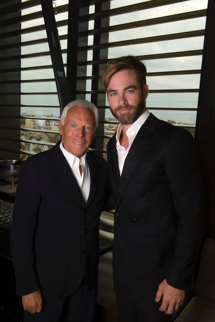 It's Chris Pine, Trace, with Georgio Armani. [Is he the right one or is it Chris Evans? No, it's Chris Pine, right? I'm still not sure they aren't the same person and I made up one of the names. No, He's the one — 29-06-14]