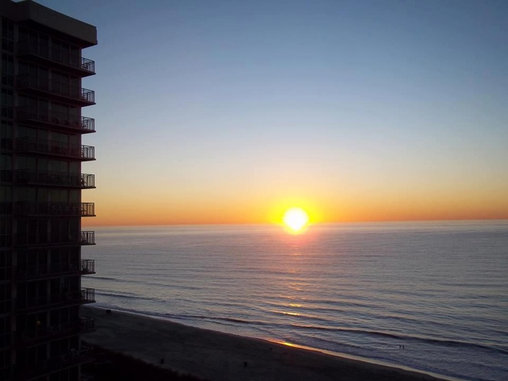 A private balcony at your Myrtle Beach oceanfront resort is the perfect place to watch the sunrise.
