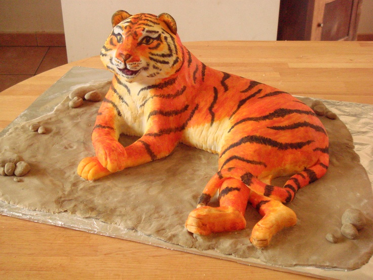 3d cakes | Tiger cake by ~Shoshannah84 on deviantART