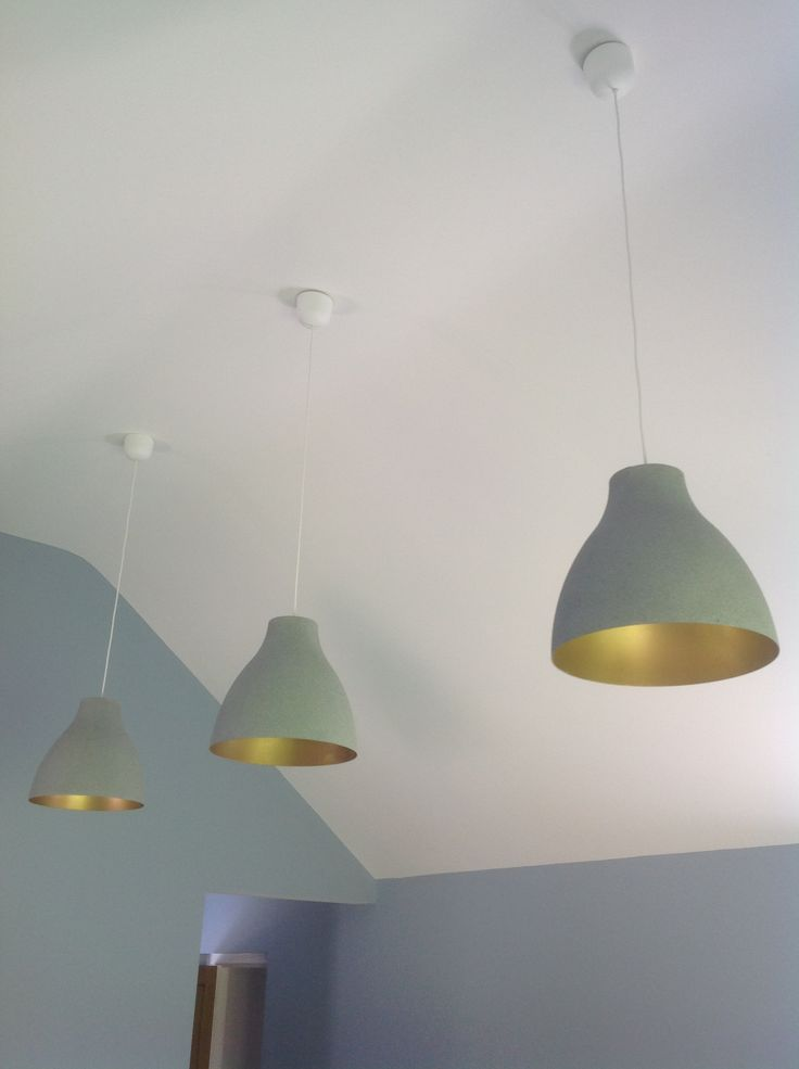 Ikea hack. Melodi white plastic lampshades transformed