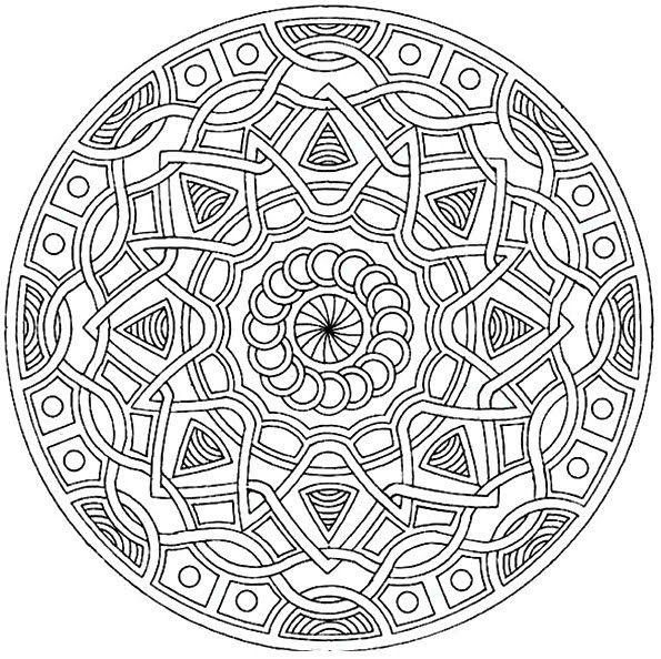 Mejores 30 imágenes de MANDALAS en Pinterest | Mandala para colorear ...