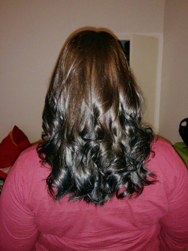 Reverse Ombre Hair Brown To Black Traffic Club