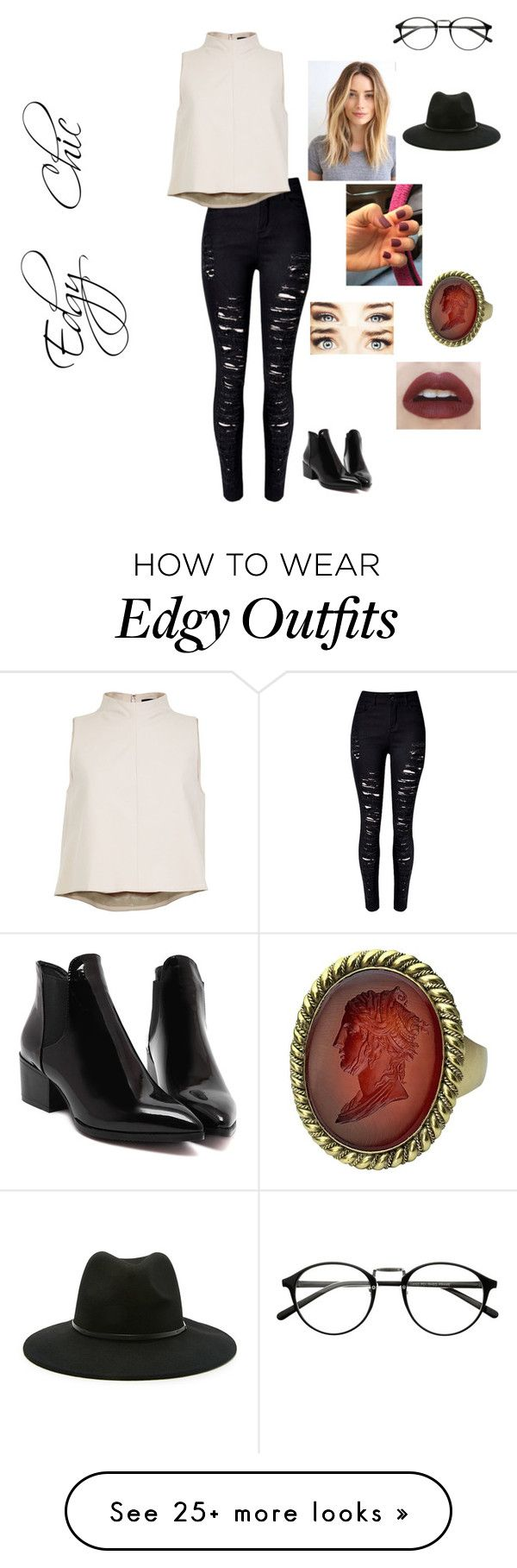 """Edgy Chic."" by haleym-31 on Polyvore featuring TIBI and Forever 21"