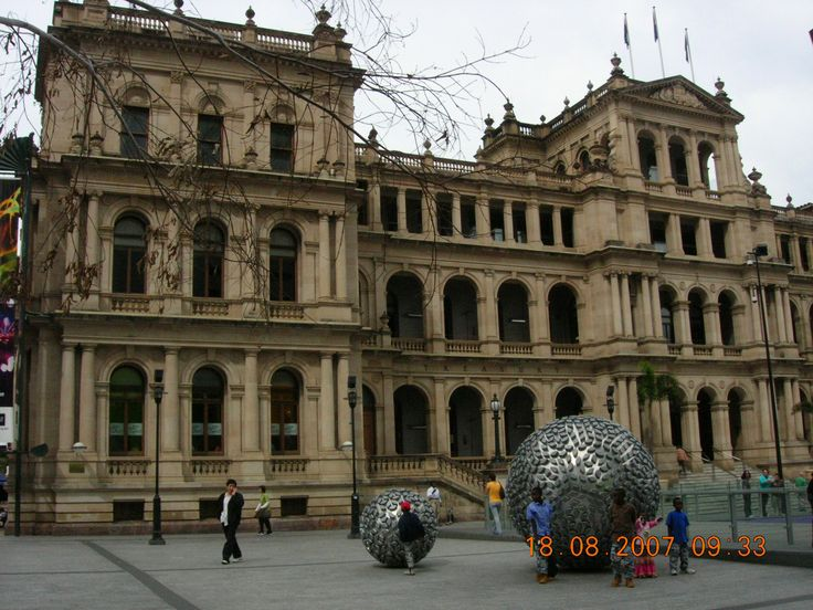 Brisbane - Australia (Treasury Casino was the closest place to our hostel to exchange currency)