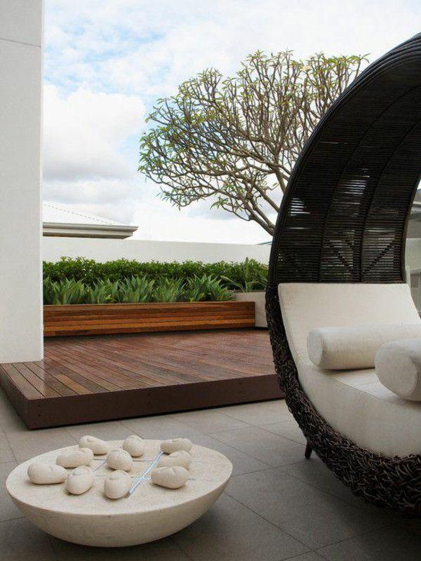 Moderne Design Ideen Möbel Und Dekoration In Runder Form | Outdoor ... Outdoor Patio Design Ideen