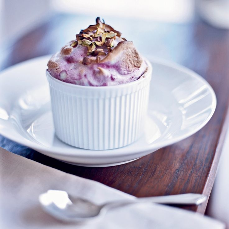 This decadent-tasting soufflé, a swirl of berries and marshmallowy meringue.