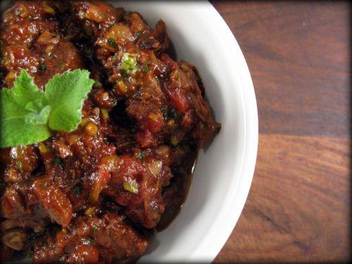 Mediterranean Beef Stew with Green Olive PestoChicken Salad, Olive Pesto, Beef Stews, Primal Recipe, Meat Loaf,  Meatloaf, Green Olive, Mediterranean Beef, Paleo Recipe