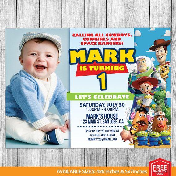 Toy Story Invitations Toy Story Invite Toy Story by MrPartyInvites