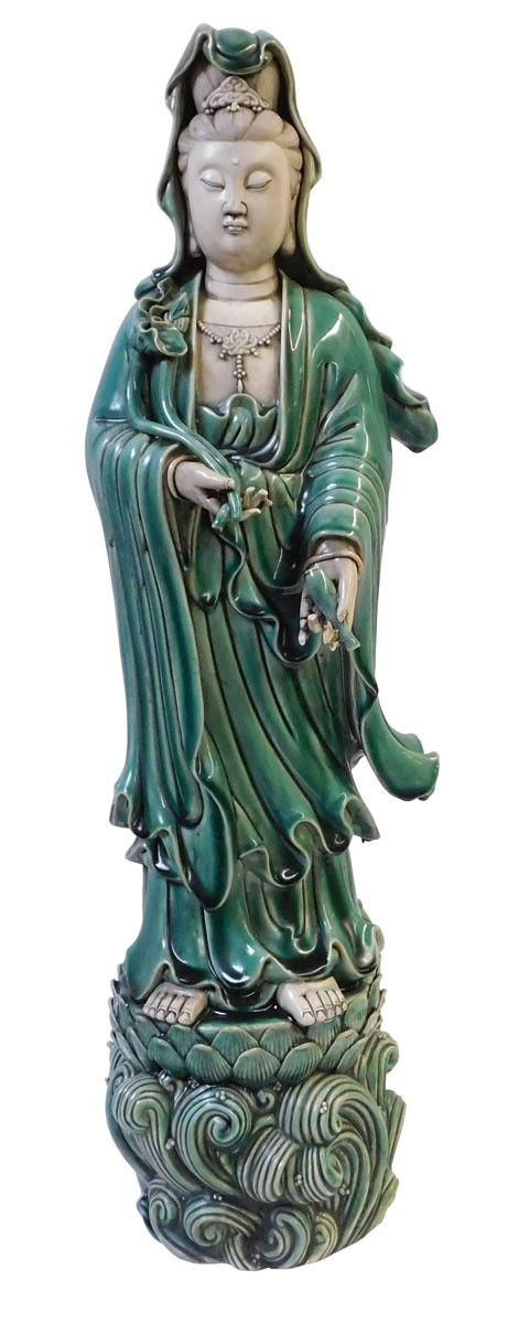 This Is A Chinese Handmade Porcelain Standing Kwan Yin