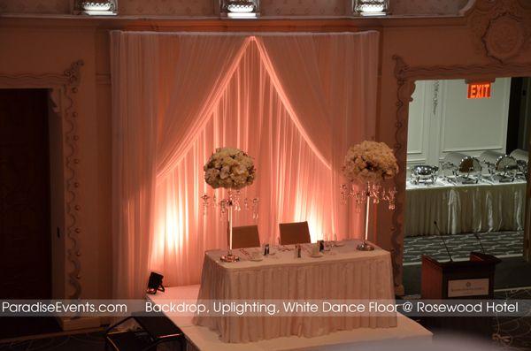 uplighting rental Wedding backdrops Vancouver Paradise Events