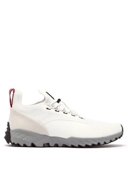 MONCLER MONCLER - JERICHO LOW TOP TRAINERS - MENS - WHITE MULTI.  moncler   shoes 4733eaaeb60