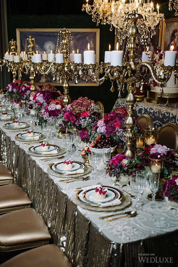 WedLuxe– Dramatic Jewel Tones | Photography by: Mimmo & Co.  Follow…