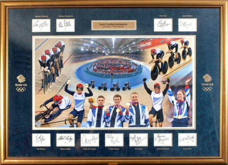 All 11 Track Cycling Gold Medalists Autographs - Team GB London 2012 Olympics